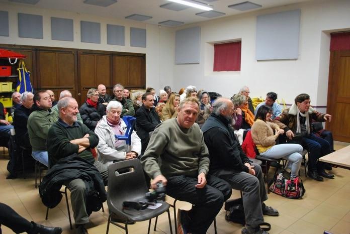 De nombreux membres étaient présents à l'ag du cercle du 17 janvier