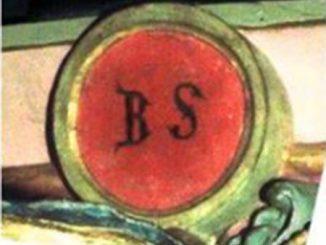 Le cartouche BS originel de l'église de Rennes-le-Château