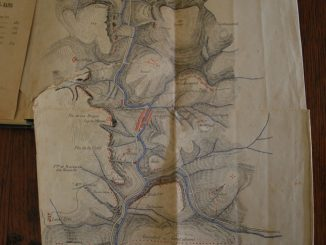 Carte de la Vraie Langue Celtique et du cromleck de Rennes-les-Bains d'Edmond Boudet dans le livre de son frère l'abbé Boudet