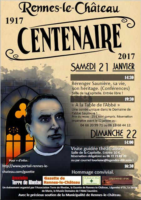 Colloque du centenaire du décès de Bérenger Saunière à Rennes-le-Château
