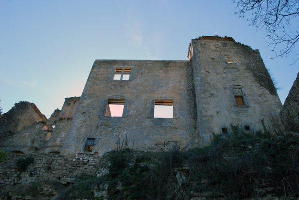 Rennes-le-Château février 2019 : les ruines du château
