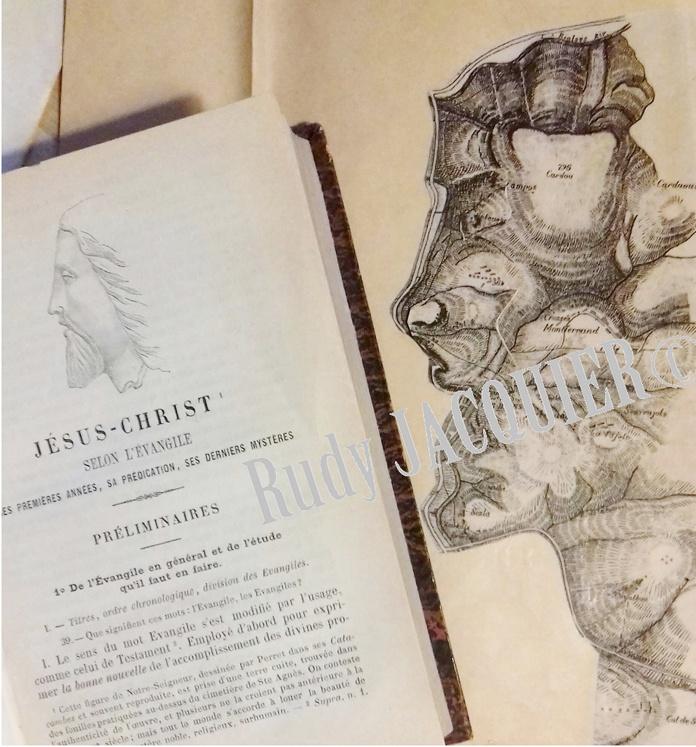 Comparaison de la tête du Christ et du montage de Rudy Jacquier pour comprendre la source de la carte de Boudet