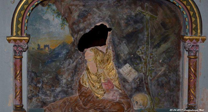 Le bas-relief Marie-Madeleine vandalisé est en terre cuite !