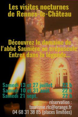 Visites de nuit  2019 dans le domanie de l'abbé Saunière