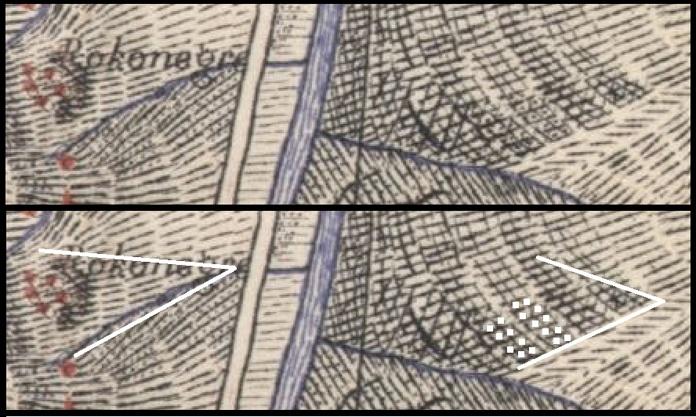 A la source de la carte de Boudet, Rudy compare le tête, le nez du profil et des routes