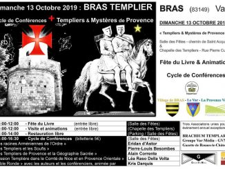Conférences sur les Templiers à Bras, fête du livre ésotérique et visite de la chapelle des templiers