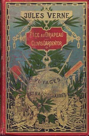Clovis Dardentor de Jules Verne - Couverture « dos-phare »