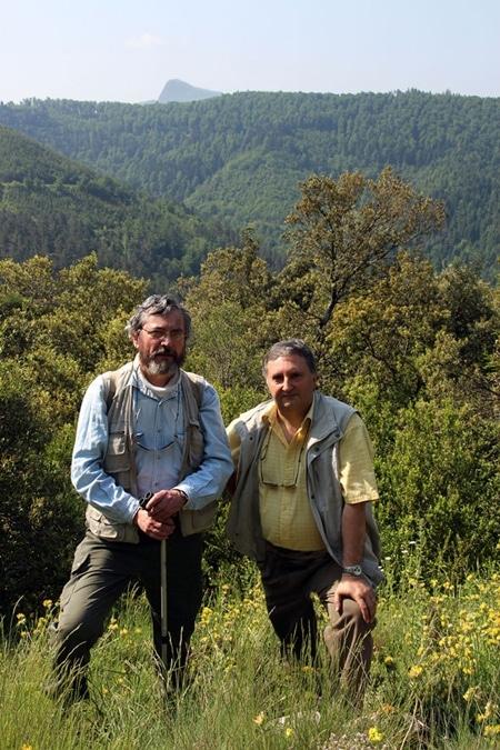 Patrick et Jean-Pierre Merle Garcia et le pech de Bugarach