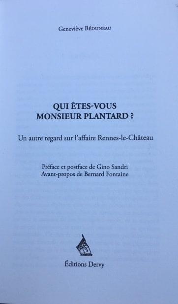 Sortie du livre sur la vie de Pierre Plantard