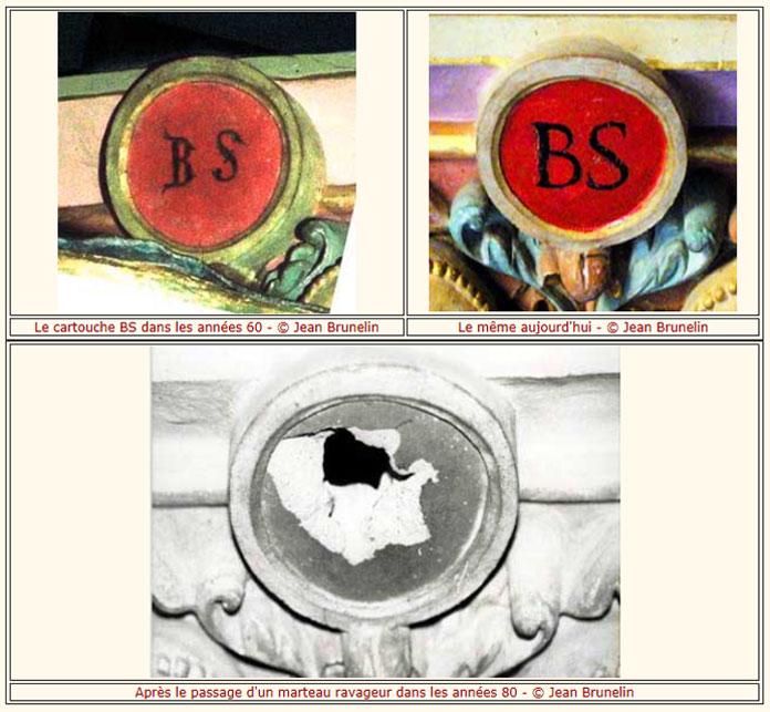 Le cartouche du bénitier et pas celui du balustre