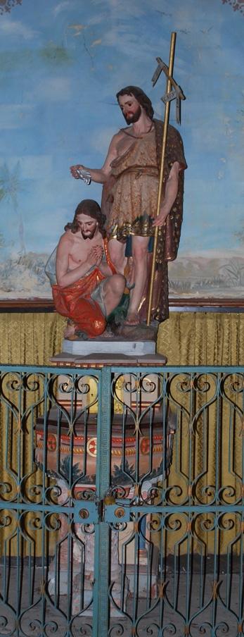 Les fonts baptismaux Giscard dans l'église de Rennes-le-Château