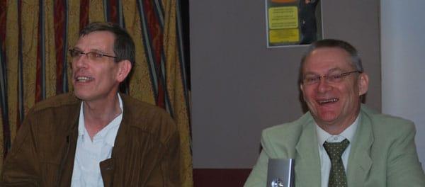 Que font Hervé Lechat et Pierre-Antoine Dumarquez lors de l'AG de l'AAAL