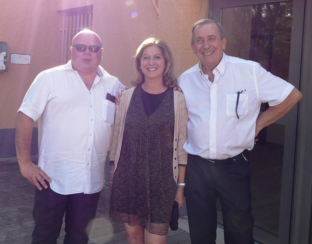 Johan Netchacovitch, Kris Darquis et Eridan d'Astor lors des conférences sur les Templiers