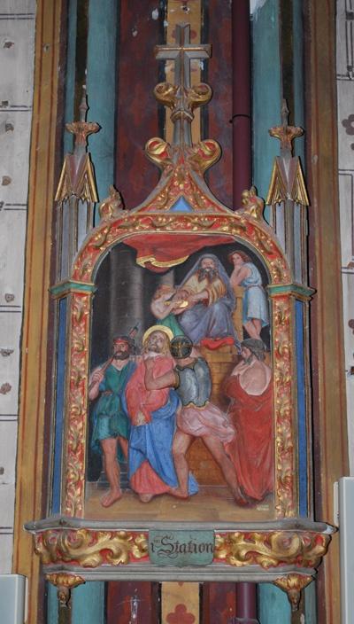 Station I du chemin de croix de Notre-Dame de Marceille