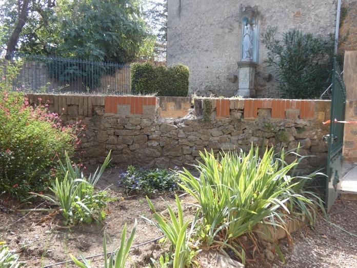 Travaux 2019 devant le jardin de la Vierge à Rennes le Chateau