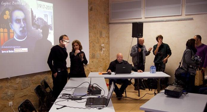 Colloque du centenaire de Saunière : 14h15 préparation du colloque de l'abbé Saunière - Eugène Berbolingot ©