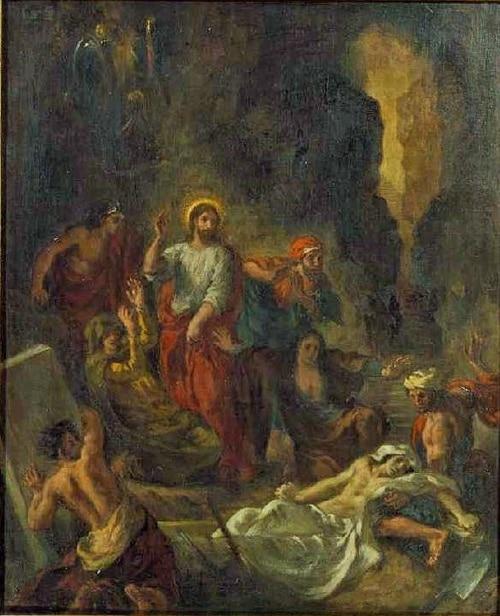 Le réveil de Lazare par Delacroix