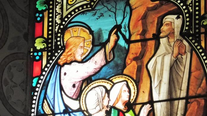 Les quatre personnages de la résurrection de Lazare - Jean-Marie Villette ©