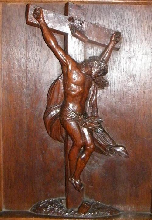 Crucifix lazariste, sculpture miniature - Patrick Merle ©