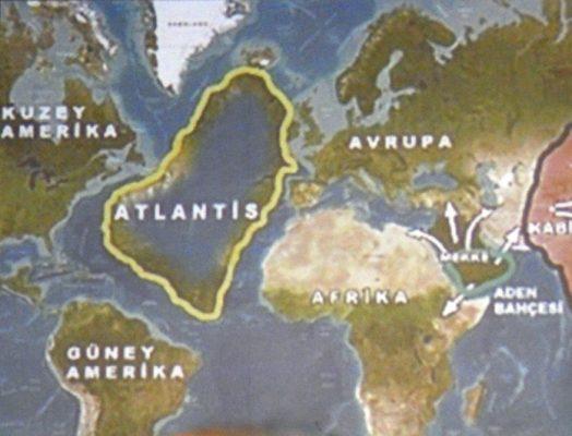 L'Atlantide ou Atlantis proche du détroit de Gibraltar dans la conférence de Sumer à l'Aude