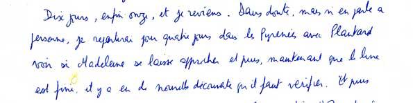 Ecrit de Philippe de Chérisey