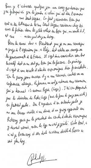 Philippe de Chérisey demande à avertir Pierre Plantard