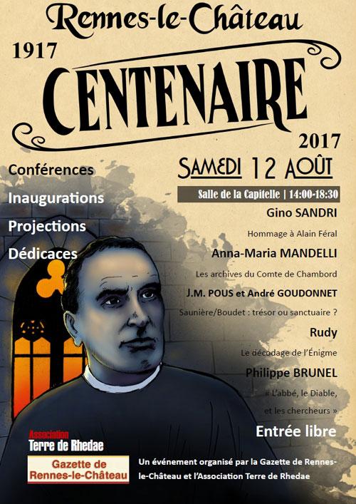 Le centenaire du décès de l'abbé Bérenger Saunière
