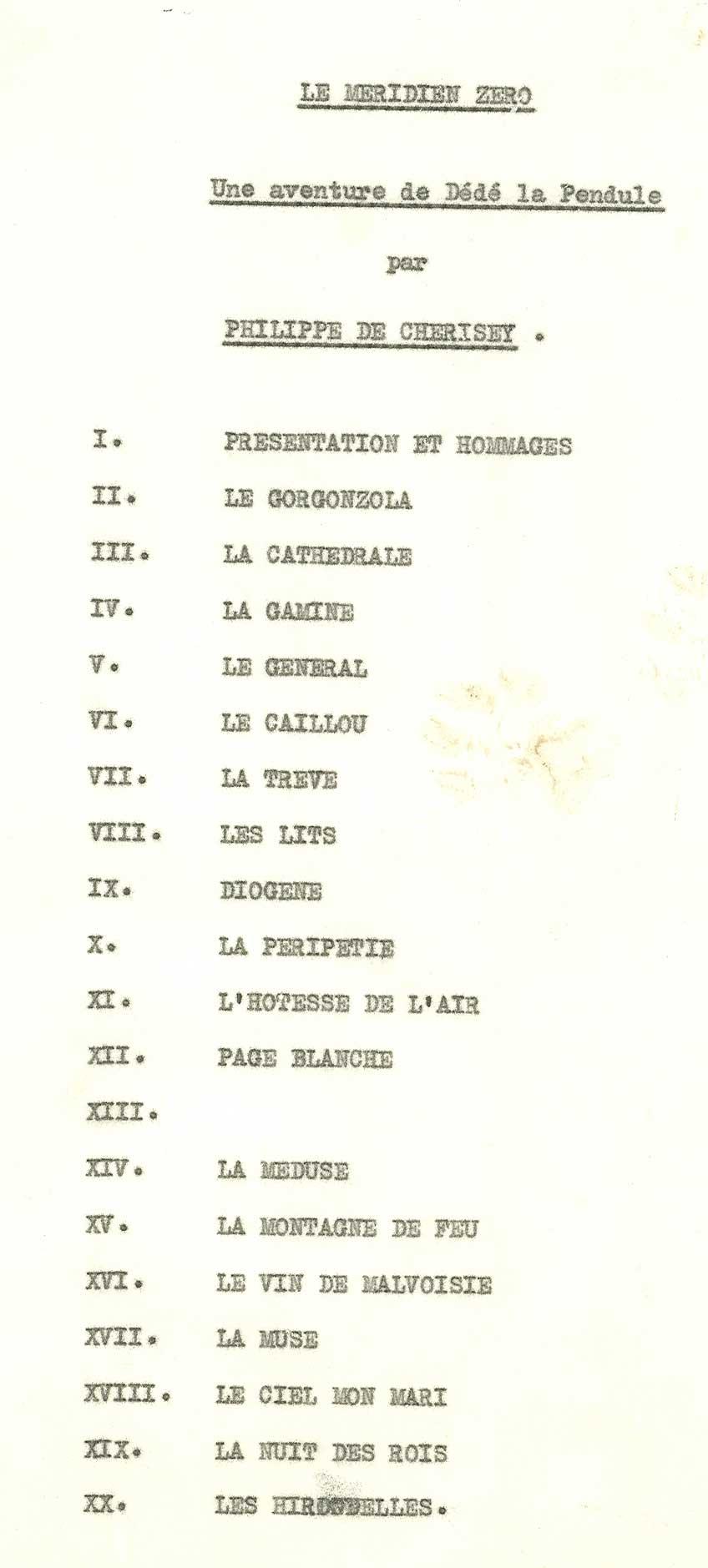 Le méridien zéro de Philippe de Chérisey