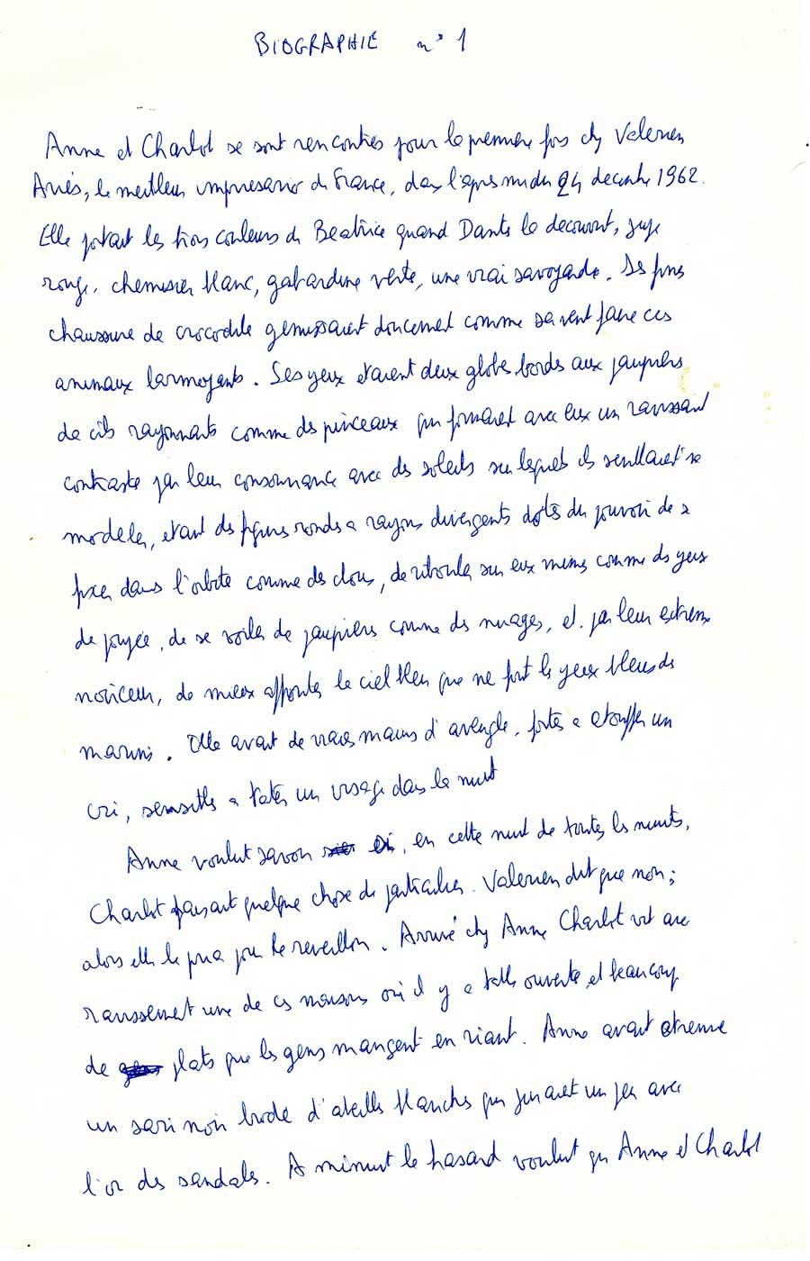 Philippe de Chérisey alias Charlot raconte sa rencontre avec son amie chez Pierre Plantard