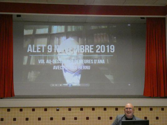 De Sumer à l'Aude le 9 novembre 2019 à la salle des fêtes d'Alet-les-Bains, conférence de Patrice Hernu et Jean-Philippe Pigot