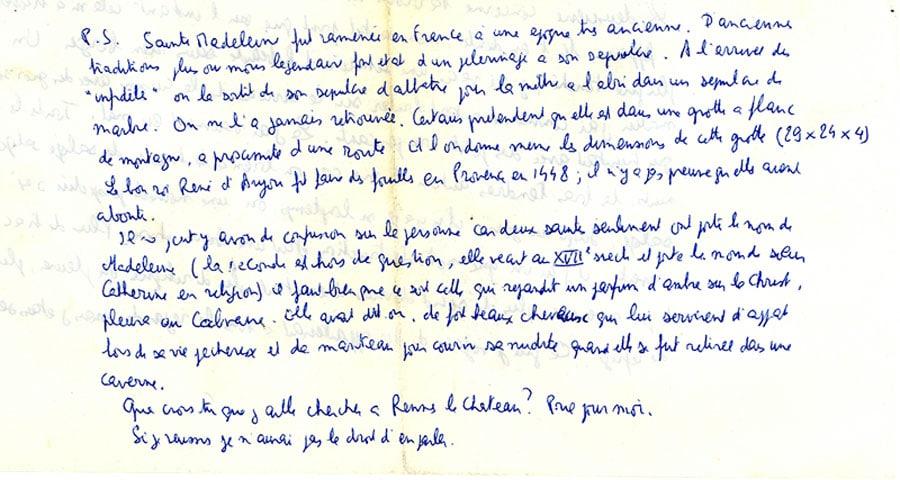 Philippe de Chérisey parle de sainte Madeleine