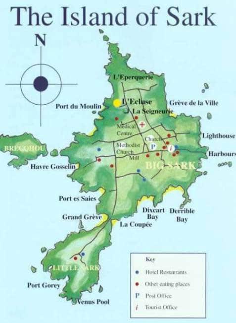 Carte de l'île de Sark