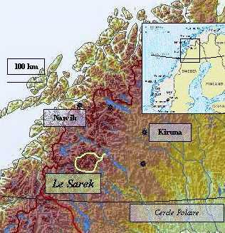 L'ile de Sarek en Suède