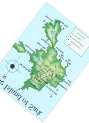 Il faut faire encore une rotation de 38° de la carte de l'ile de Sark pour que ce soit plus parlant et devenir Sarek l'ile aux trente cercueils