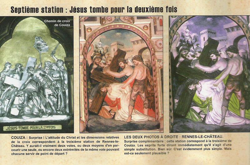 Station 7 des chemins de croix des églises de Rennes-le-Château et de Couiza - Paul Rouelle