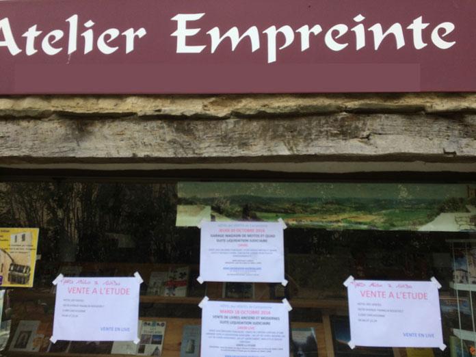 L'Atelier Empreinte librairie de Rennes-le-Château est en faillite