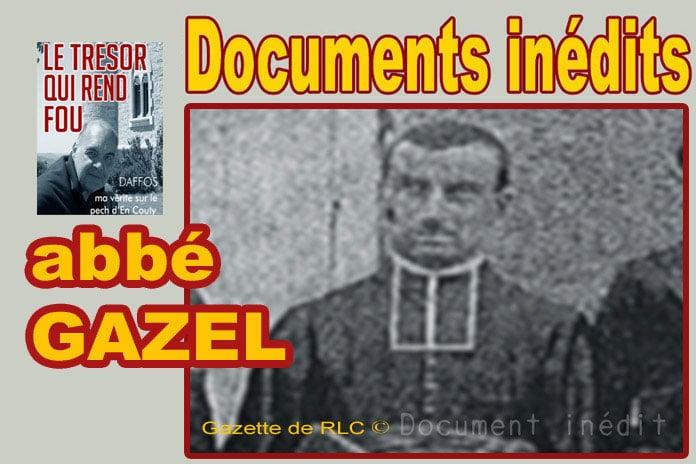 Gros plan de l'abbé Gazel de Floure