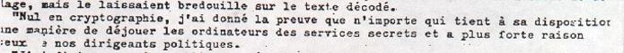 Philippe de Cherisey nul en cryptographie dans le grand parchemin