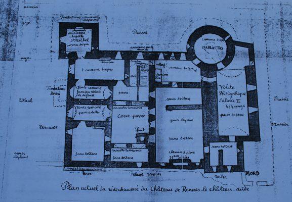 Château de Rennes-le-Château, le comtal par Marius et Henri Fatin