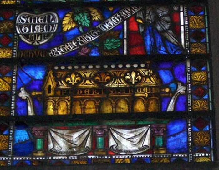 Détail de l'Arche d'Alliance (FEDERIS ARCA) à la basilique Saint Nazaire et Saint Celse de la Cité de Carcassonne
