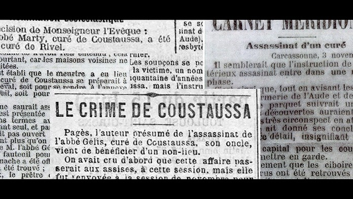 L'assassinat de l'abbé Gélis dans L'abbé le diable et les chercheurs