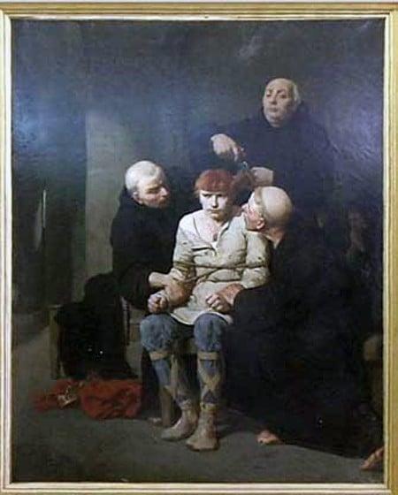 Le dernier mérovingien d'Evariste Vital Luminais au musée des Beaux-Arts de Carcassonne