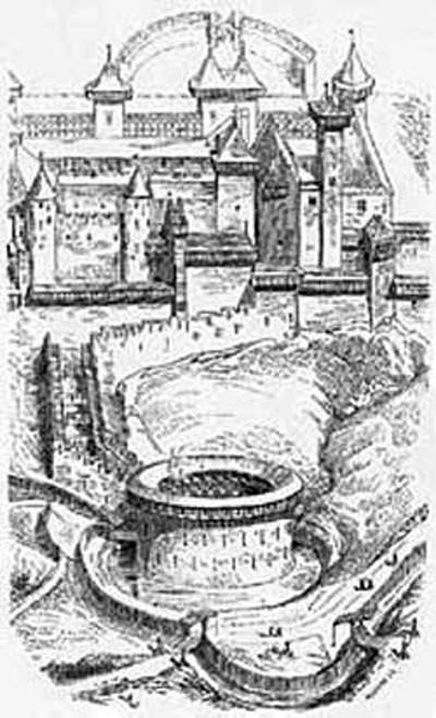 Dessin de la Cité de Carcossonne