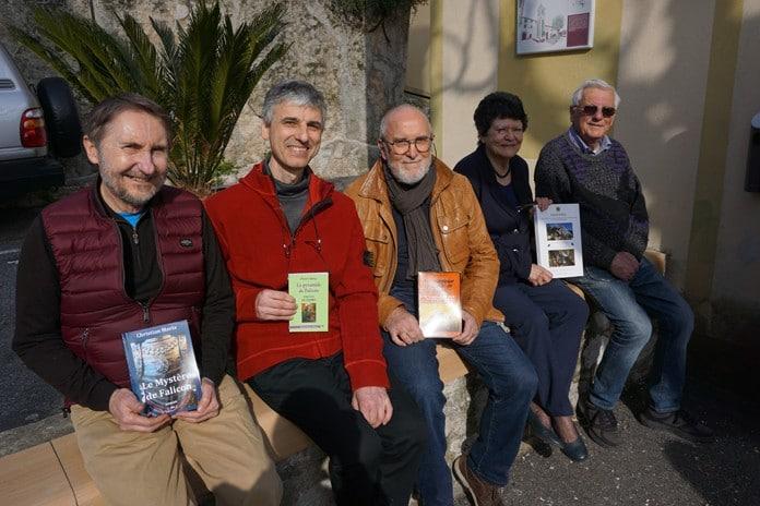 Christian Maria, Pierre Bény, Henri Broch, Catherine Ungar et Yann Duvivier à Falicon