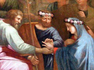 Détail du mariage de la Vierge