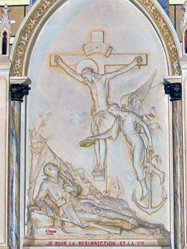 Monument aux morts de l'église de Couiza (Jean-Claude Debrou ©)