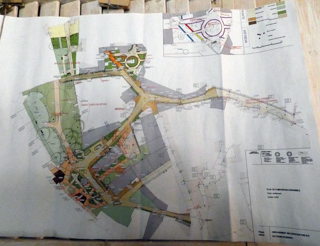 Plan des travaux du village de Rennes-le-Château