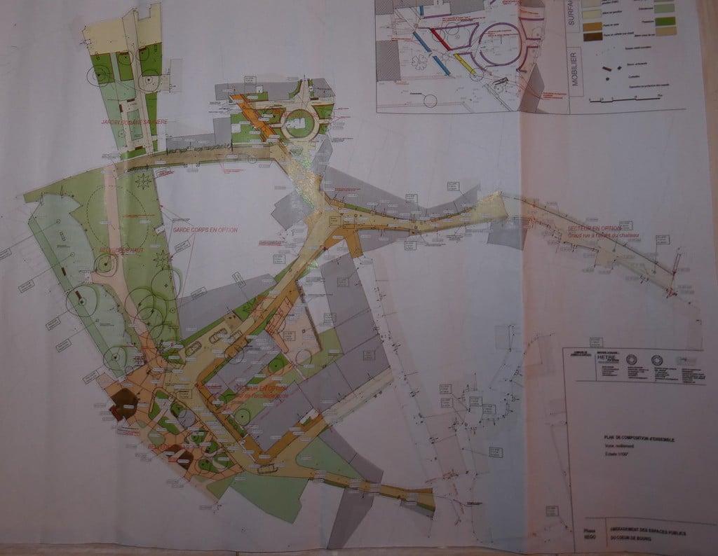 Promenade à Rennes-le-Château grâce au plan des travaux