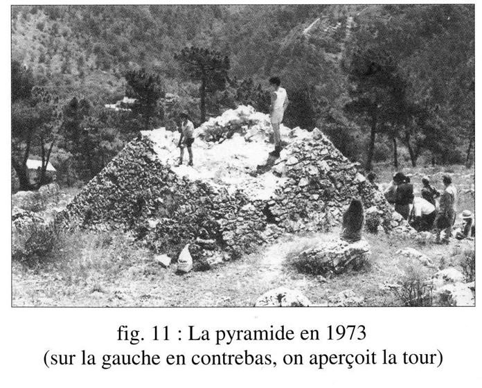 La pyramide de Falicon en 1973