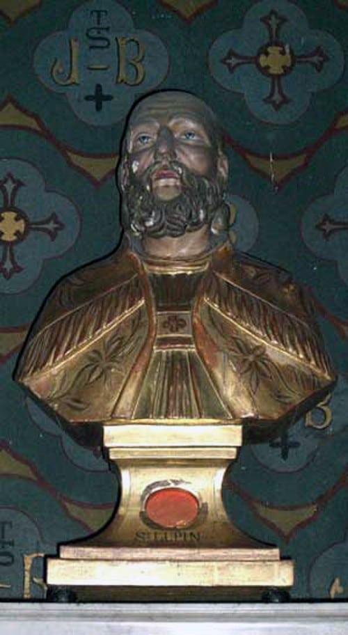 Le buste-reliquaire de Saint Lupin à la cathédrale Saint Michel